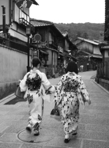 Kimonos in Kyoto