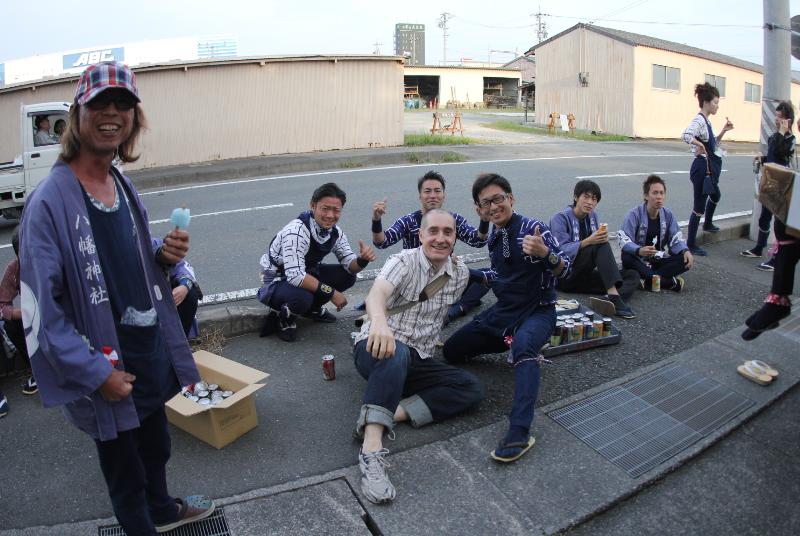 Hanging out at a matsuri