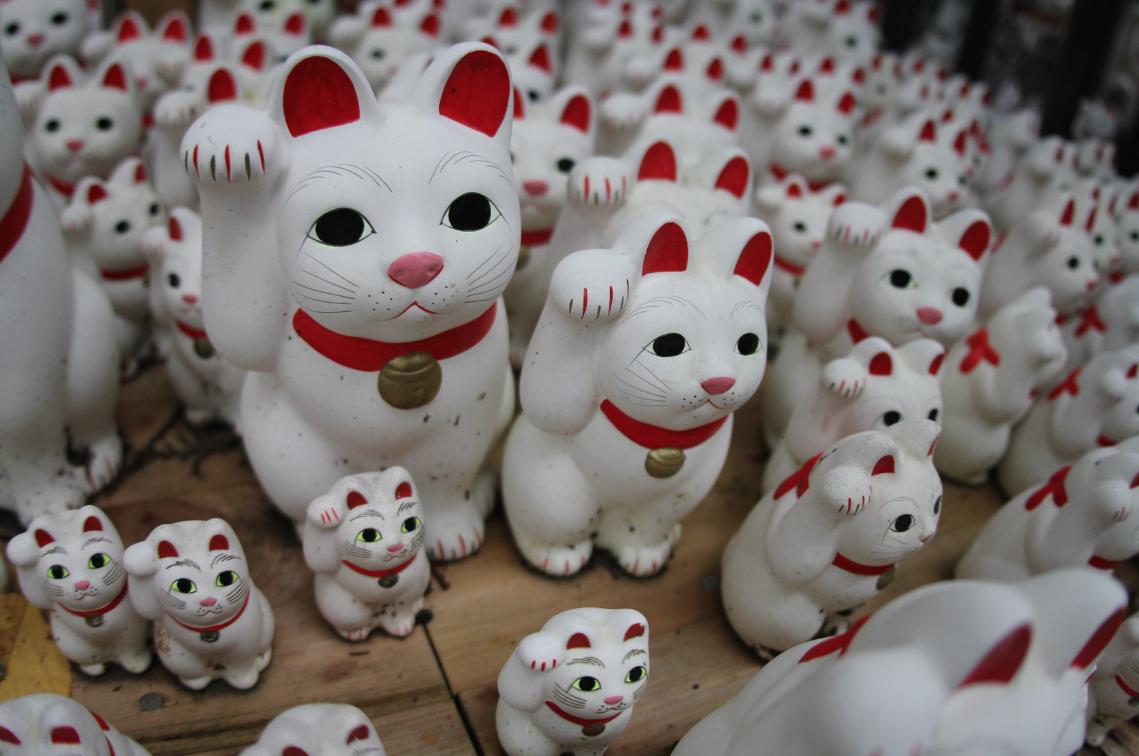 Cat temple in Tokyo Japan