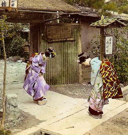 bowing geisha